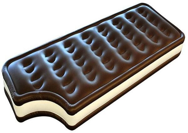 Chocolate inflatable floating bed