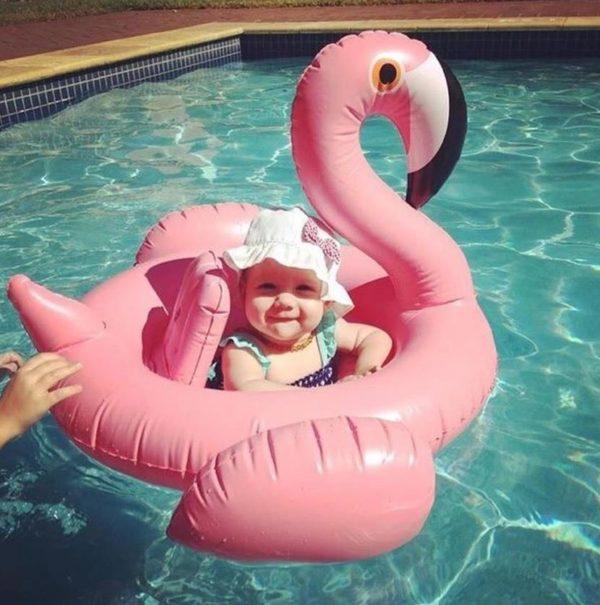 Baby Flamingo Inflatable Pool Float 2