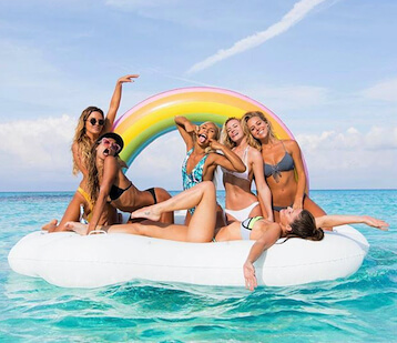 Rainbow Cloud Giant Pool Float