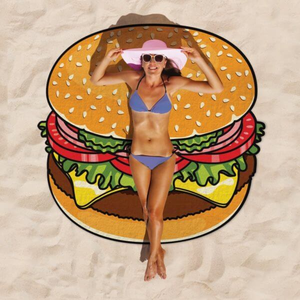 Burger Beach Blanket sand mat hk