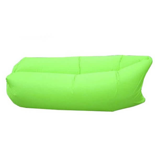 green inflatable couch