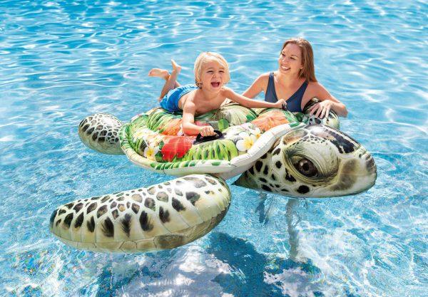 Intex Giant Sea Turtle Ride-On Pool Float - 兒童海龜充氣坐騎
