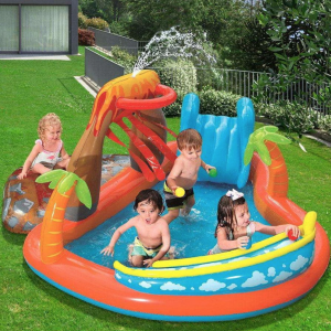 BESTWAY Inflatable LAVA LAGOON Baby Swimming Pool hk