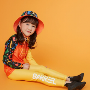 Barrel Kids Summer Rashguard-ORANGE