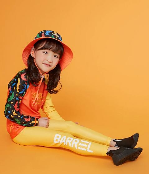Barrel Kids Summer Rashguard-ORANGE