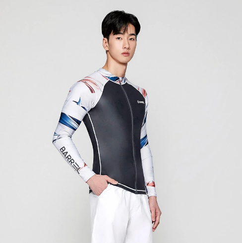 Barrel Mens Kua Pattern Zip-Up Rashguard-DARK GREY Hong Kong
