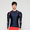 Barrel Mens Kua Pattern Zip-Up Rashguard-DEEP NAVY hk