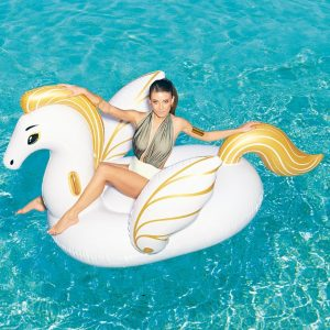 Giant Golden Pegasus Pool Float