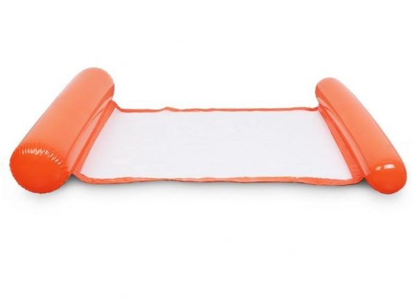 Orange Inflatable pool floating cushion mat -彩色充氣浮墊