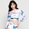Barrel Womens Basic Crop Rashguard-Haz hk