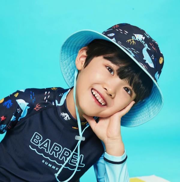 Barrel Kids Pattern Bucket Hat-DORY hk