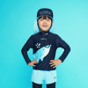 Barrel Kids Buddy Rashguard-DEEP NAVY