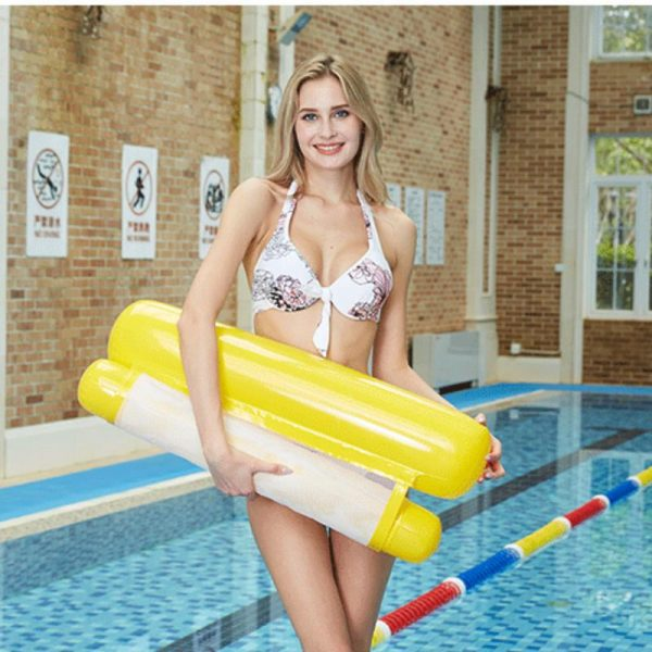 Yellow Inflatable pool floating cushion mat -彩色充氣浮墊