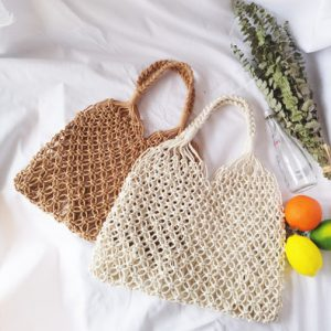 Fashionable Beach Handbag Mesh Net/Straw Tote Bag