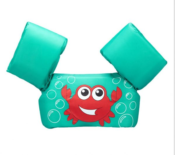 Crab life jacket with arm float