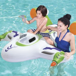 Bestway Inflatable Spaceship Pool Float Ride-On with Water Pistol