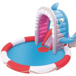 Bestway Inflatable Shark Attack Play Pool with slide